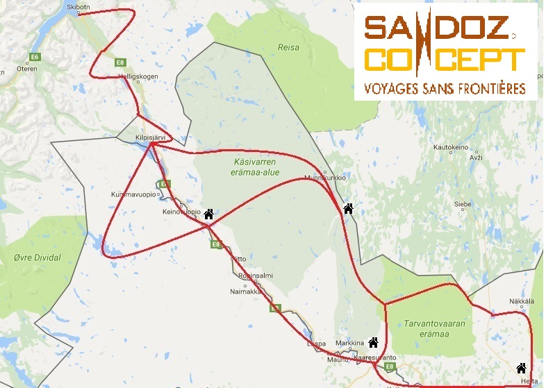 Streckenkarte Scandic