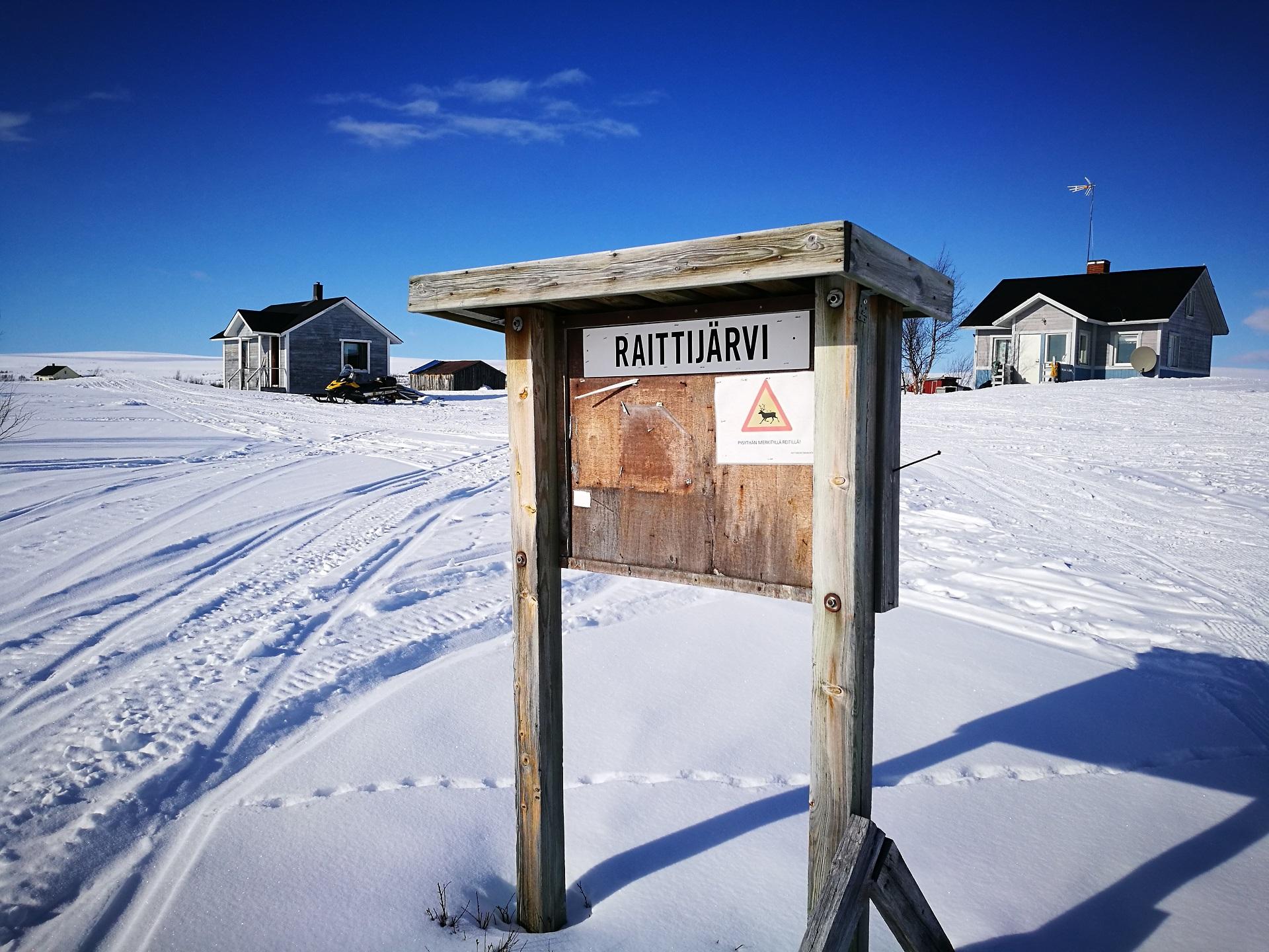 Bauerndorf Raittijärvi