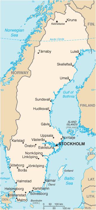 Karte Skandinavien