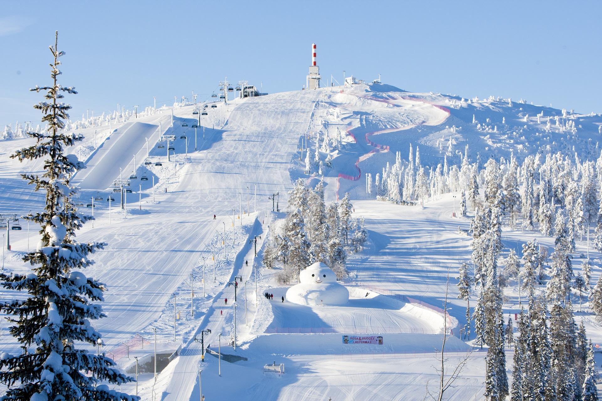 Le domaine skiable de Ruka !