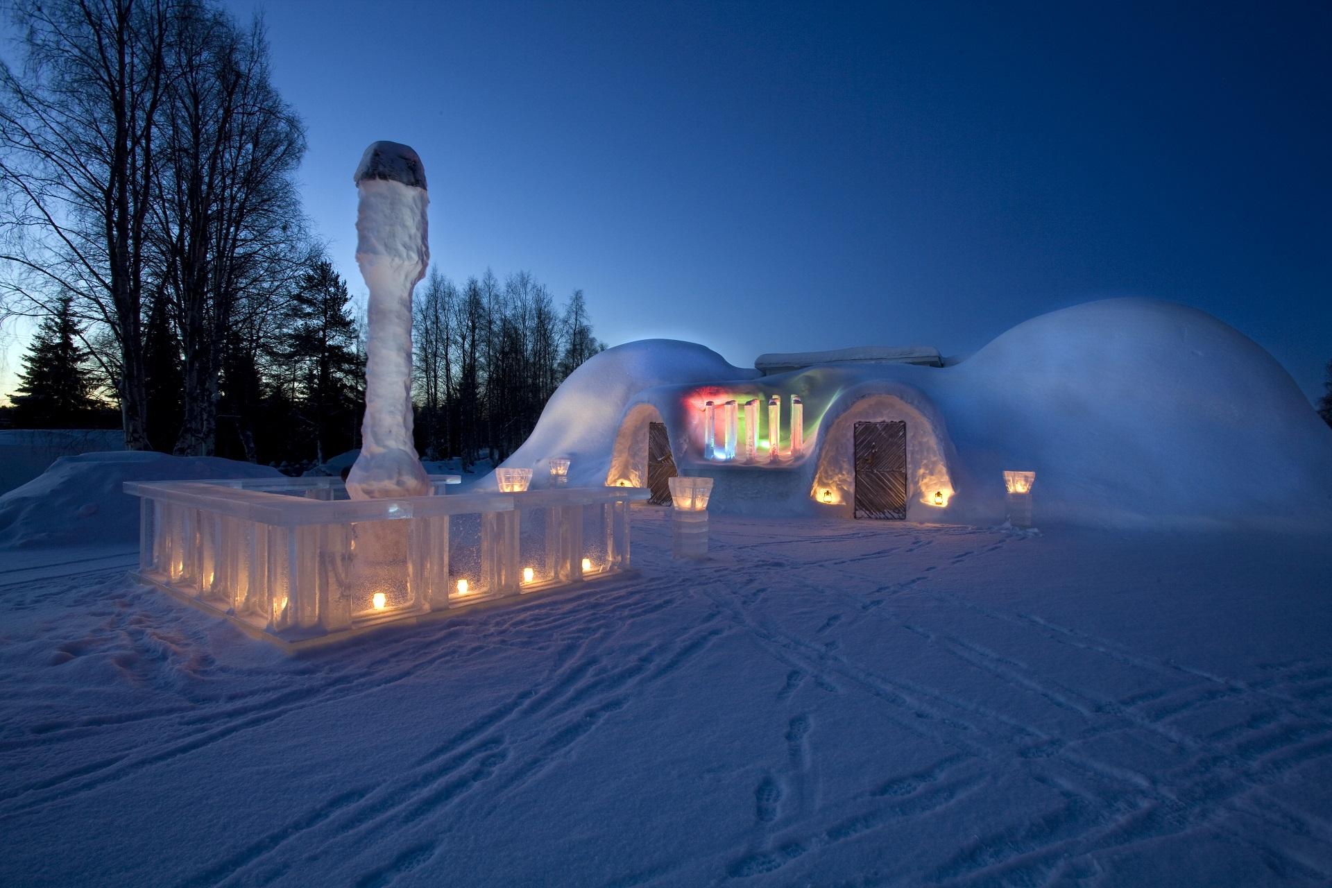 Restaurant igloo à Rovaniemi
