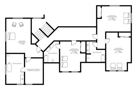 Ensuite Bathroom Floor Plans spirit bear lodge floor plans / sandozconcept - winterreisen weltweit